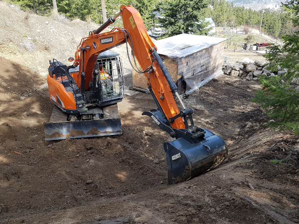 kamloops commercial excavating, residential excavating, construction excavating